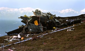 Wreckage of Chinook helicopter