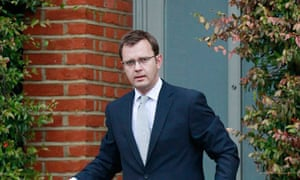 Andy Coulson leaving his house