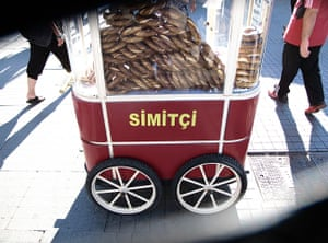 Face hunter: Istanbul: street stall selling simit