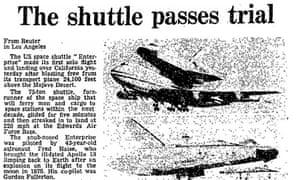 Space Shuttle in Guardian archive