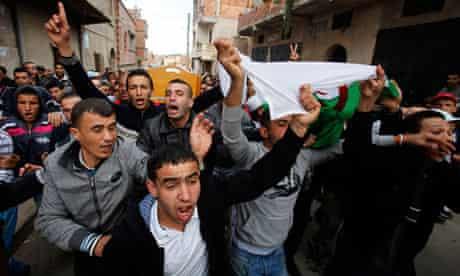 Funeral of demonstrator in Algeria