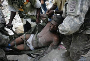 Haiti one year on: January 26: Rico Dibrivell freed from the rubble in Port-au-Prince