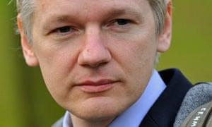 Julian Assange arrives at Belmarsh Magistrates' Court