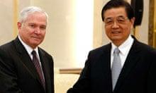 Robert Gates and Hu Jintao