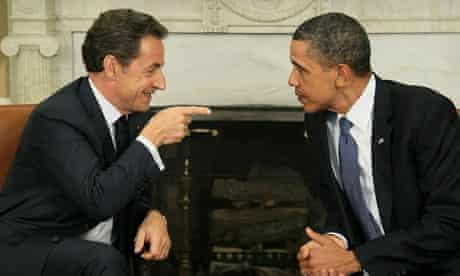Nicolas Sarkozy and Barack Obama