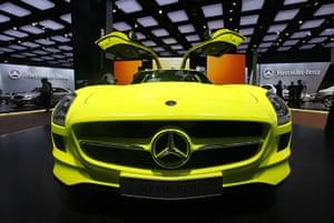 Detroit Motor Show: The Mercedes Benz SLS AMG E-Cell