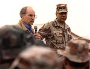 Gulf War: December 21, 1990: Cheney and Powell address US troops in Saudi Arabia