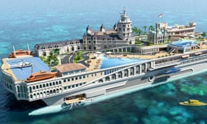 The design for the Monaco-inspired yacht.