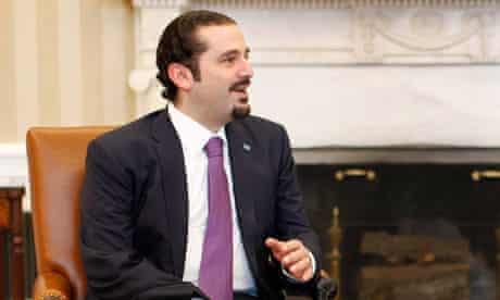 Saad Hariri at the White House