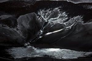 J Henry Fair exhibition: Run-off pond at Rio Tinto Mine Spain