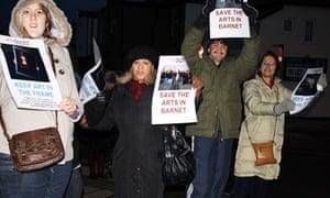 Barnet cuts protest