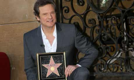 Colin Firth during his Hollywood Walk Of Fame induction ceremony