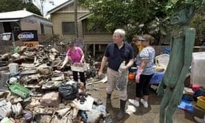 Brisbane flood clean up
