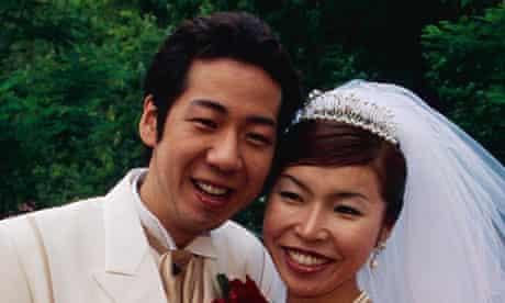 Japanese bride and groom