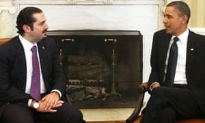 Obama Hariri Lebanon
