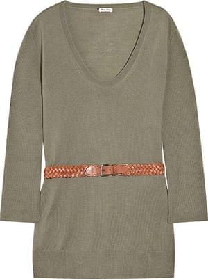 Key trends: knitwear: Jumper with leather belt