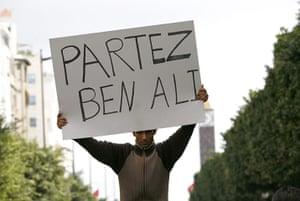 protests in tunisia: Protest in Tunis