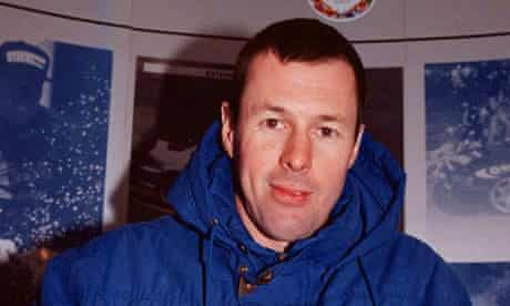 Colin McRae had been piloting his helicopter at a low height, according to one witness