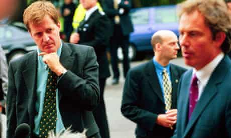 Alastair Campbell and Tony Blair in 1998