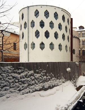 Melnikov House: The home of Russian architect Konstantin Melnikov in Moscow,