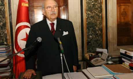 Tunisia's speaker of parliament, Fouad Mebazaa, is sworn in as president
