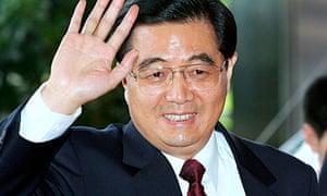 The Chinese president, Hu Jintao