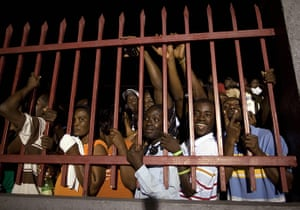"Baby Doc Duvalier returns: Supporters of Haiti's former dictator Jean-Claude ""Baby-Doc"" Duvalier"