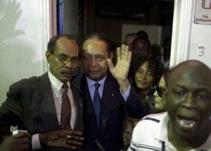 """Baby Doc Duvalier returns: Jean-Claude """"Baby-Doc"""" Duvalier returns to haiti"""