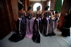 Big Fat Gypsy Weddings: Bridesmaids at the wedding of Sam Norton and Patrick Lee