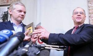 Rudpolf Elmer and Julian Assange