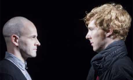 Jonny Lee Miller and Benedict Cumberbatch rehearse Frankenstein