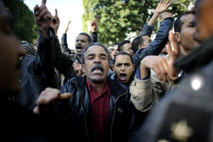 protests in tunisia: People demonstrate in central Tunis
