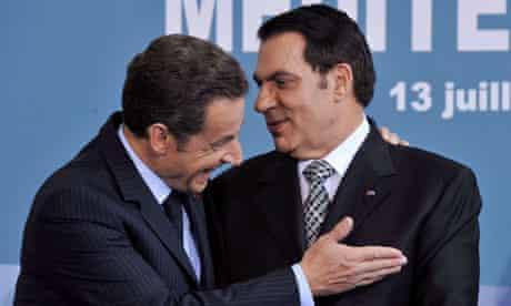Sarkozy and Ben Ali