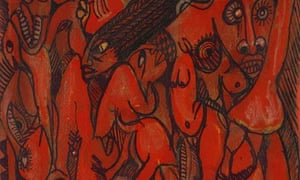 Women in Motion, 2003, by Malangatana Ngwenya