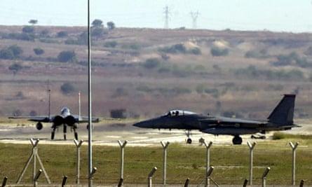 US fighter jets at Turkey's Incirlik airbase