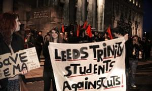parkinson steps student protest