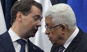 Dmitry Medvedev and Mahmoud Abbas