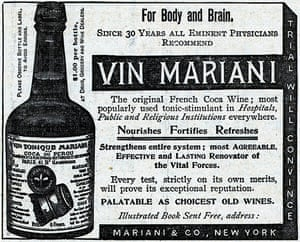 Coca products: An advertisement for Vin Mariani - the original French coca wine