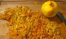 Zesting Seville oranges