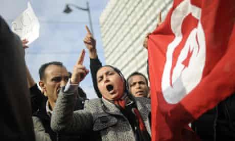 tunisian protests ben ali rcd