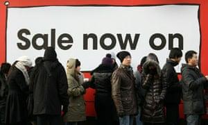 January sales on Oxford Street