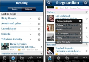 Tags in use in the Guardian iPhone app