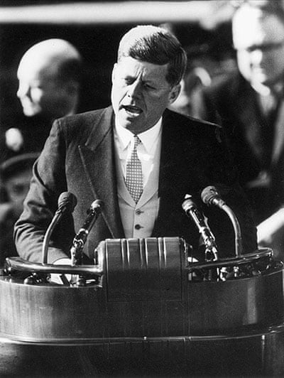 JFK Anniversary: President John F. Kennedy delivers his inaugural address