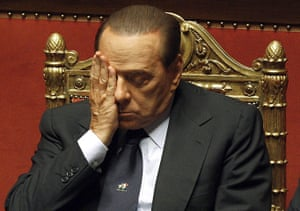 Silvio Berlusconi: December 2010: Silvio Berlusconi attends a session at the Senate