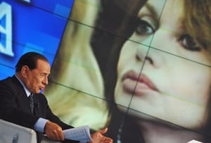 Silvio Berlusconi: May 2009: Italian PM Silvio Berlusconi appears on the TV show Porta a Porta