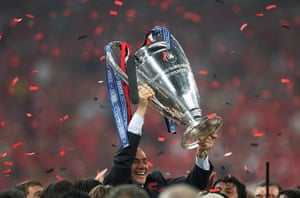 Silvio Berlusconi: May 2007: Silvio Berlusconi lifts the Champions League trophy