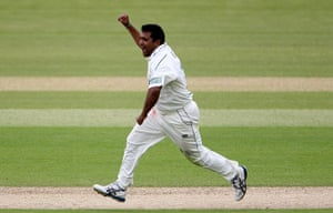 Fat Cricketers: Samit Patel of Nottinghamshire celebrates taking a wicket