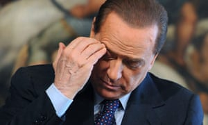 Italian Prime Minister Silvio Berlusconi gestures during a press conference in Rome.