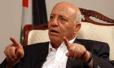 Lead Palestinian negotiator in 2008, Ahmed Qurei