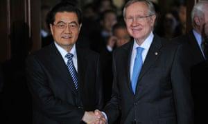 Hu Jintao meets Harry Reid